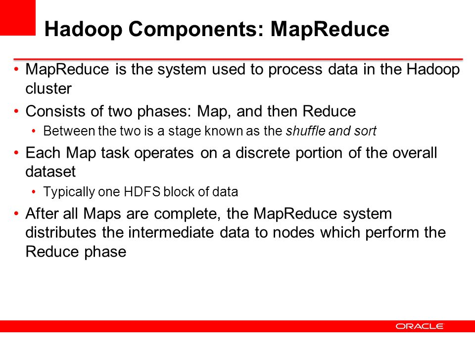 HDFS Basic Concepts HDFS is a filesystem written in Java Based on Googles GFS Sits on top of a native filesystem Such as ext3, ext4 or xfs Provides redundant storage for massive amounts of data Using cheap, unreliable computers