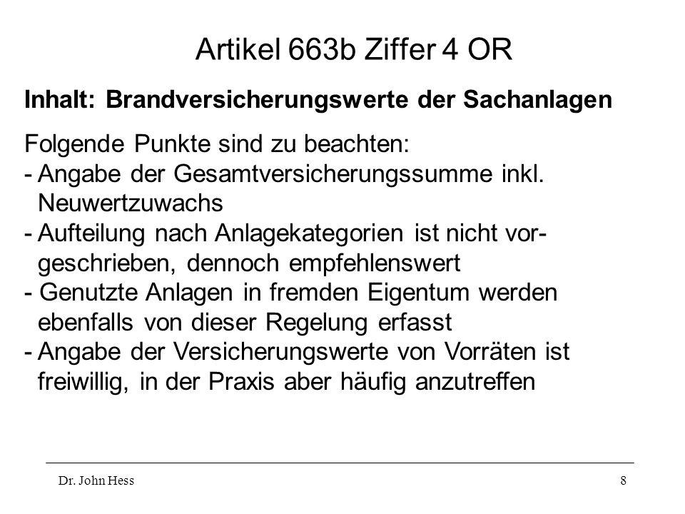 Dr.John Hess19 Exkurs: Kapitalerhöhung I Ordentliche Kapitalerhöhung (Art.