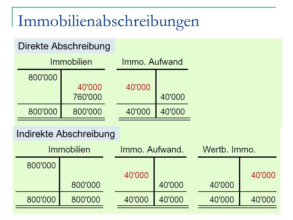 Jean-Pierre Chardonnens, comptabilité générale John Hess Finanzbuchhaltung 9 Immobilienabschreibungen 800'000 40'000 760'000 800'000 40'000 Immobilien