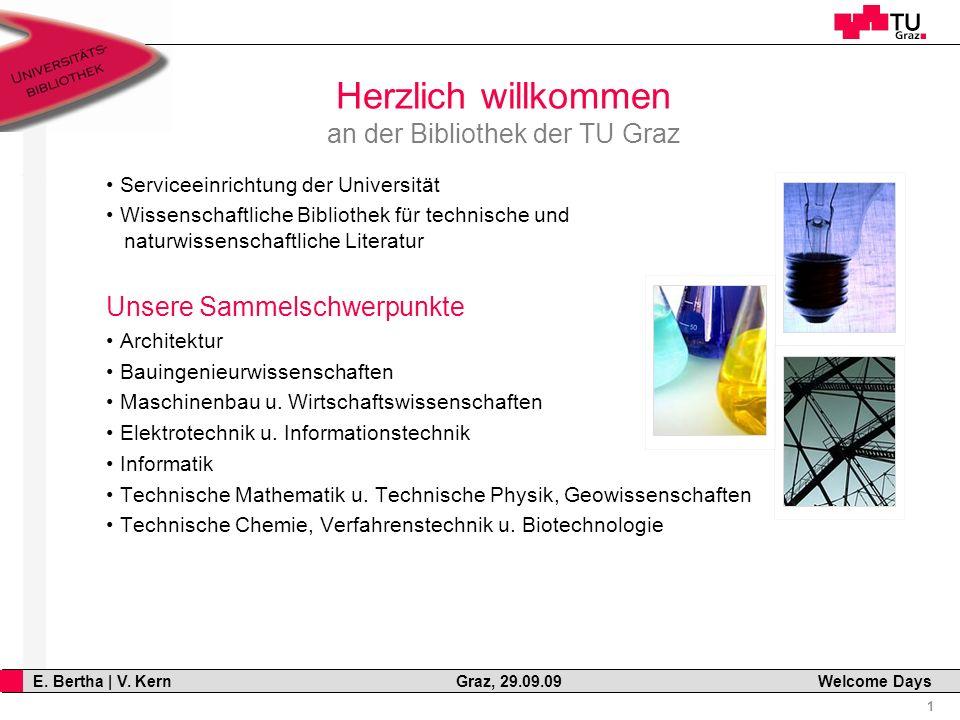 12 E. Bertha   V. Kern Graz, 29.09.09 Welcome Days Volltext