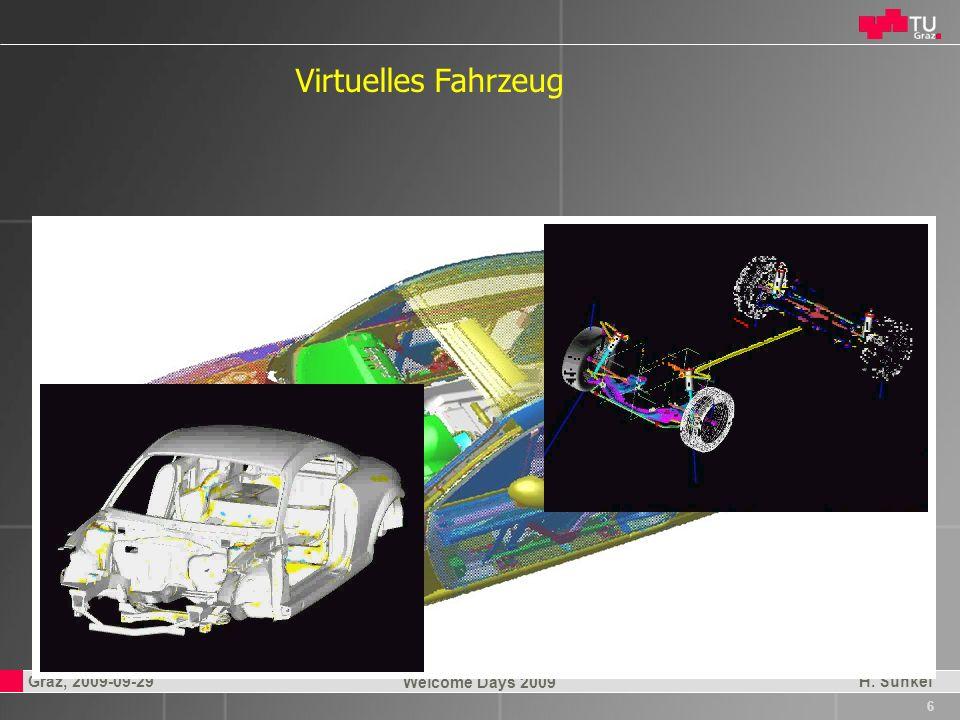 Professor Horst Cerjak, 19.12.2005 7 Graz, 2009-09-29 Welcome Days 2009 H.