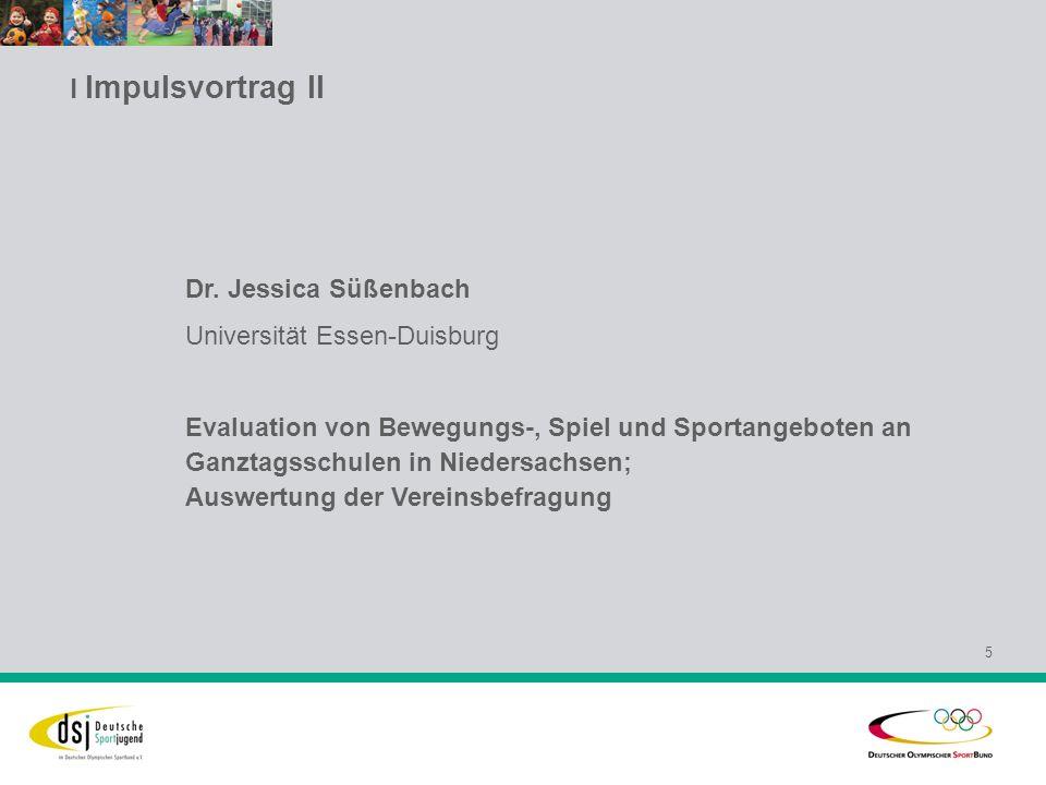 l Impulsvortrag II 6 Ulrich Kupke Vorsitzender der Sportjugend im Kreissportbund Recklinghausen e.V.