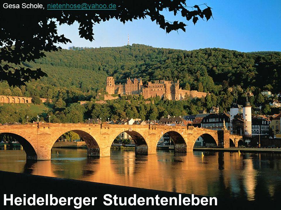 Heidelberger Studentenleben Die Ruprecht-Karls-Universität Der studentische Alltag Freizeit und Kultur –Philosophenweg –Schloss –Kino –Cafés, Kneipen & Co
