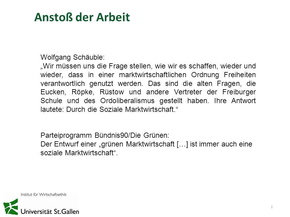 Anstoß der Arbeit 3 Wolfgang Schäuble: Wir müssen uns die Frage stellen, wie wir es schaffen, wieder und wieder, dass in einer marktwirtschaftlichen O