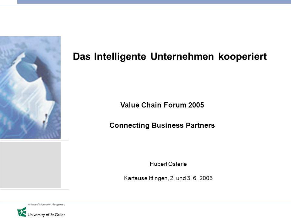 Das Intelligente Unternehmen kooperiert Hubert Österle Kartause Ittingen, 2.