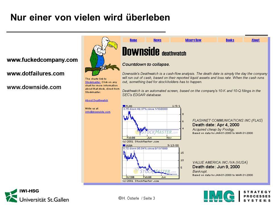 H.Österle / Seite 4 IWI-HSG D. h., viele verschwinden,...