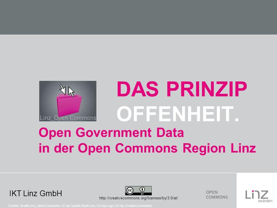 IKT Linz GmbH Open – Government – Data Credits: Open Government Data Venn Diagram CC-by-sa: justgrimes