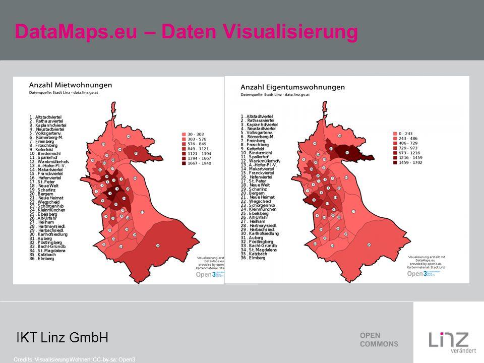 IKT Linz GmbH DataMaps.eu – Daten Visualisierung Credits: Visualisierung Wohnen: CC-by-sa: Open3