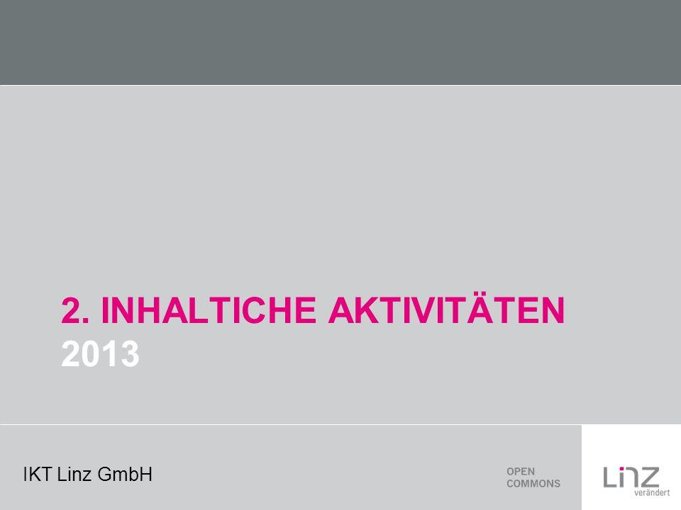 IKT Linz GmbH 2. INHALTICHE AKTIVITÄTEN 2013