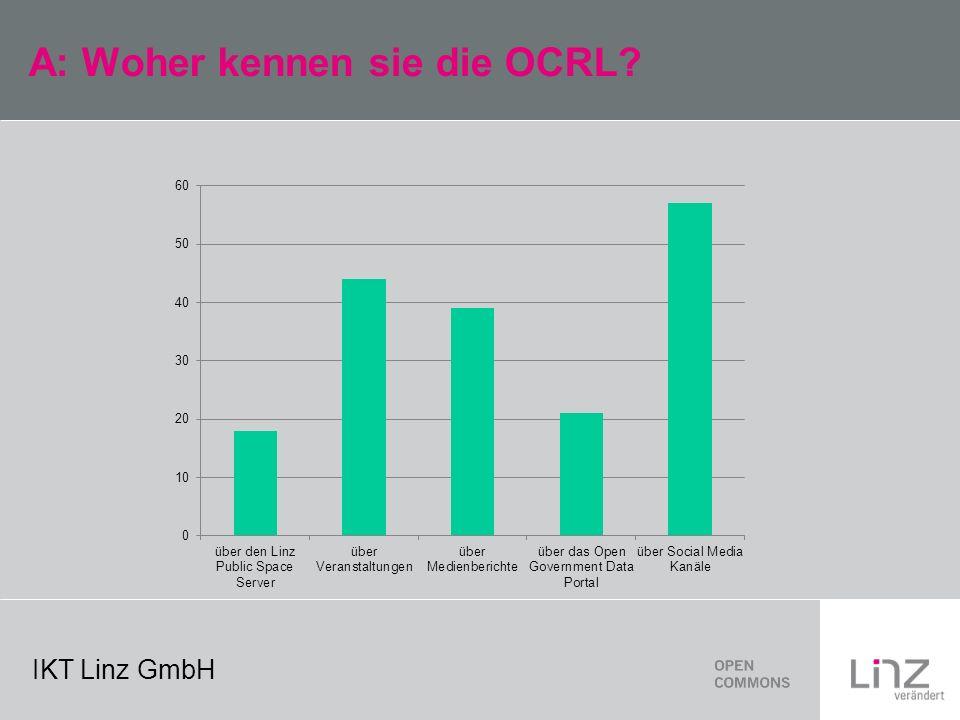 IKT Linz GmbH A: Woher kennen sie die OCRL
