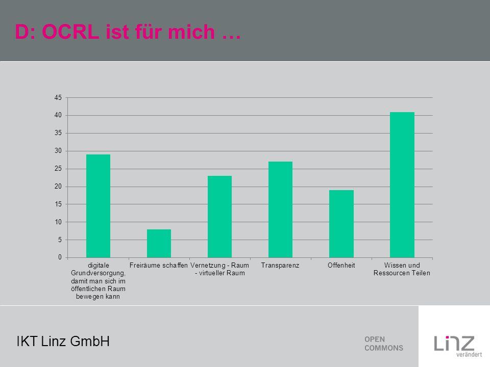 IKT Linz GmbH D: OCRL ist für mich …