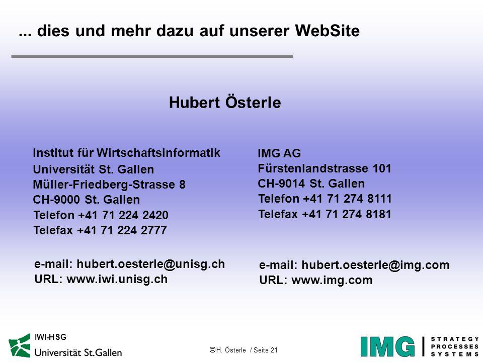 H. Österle / Seite 21 IWI-HSG...