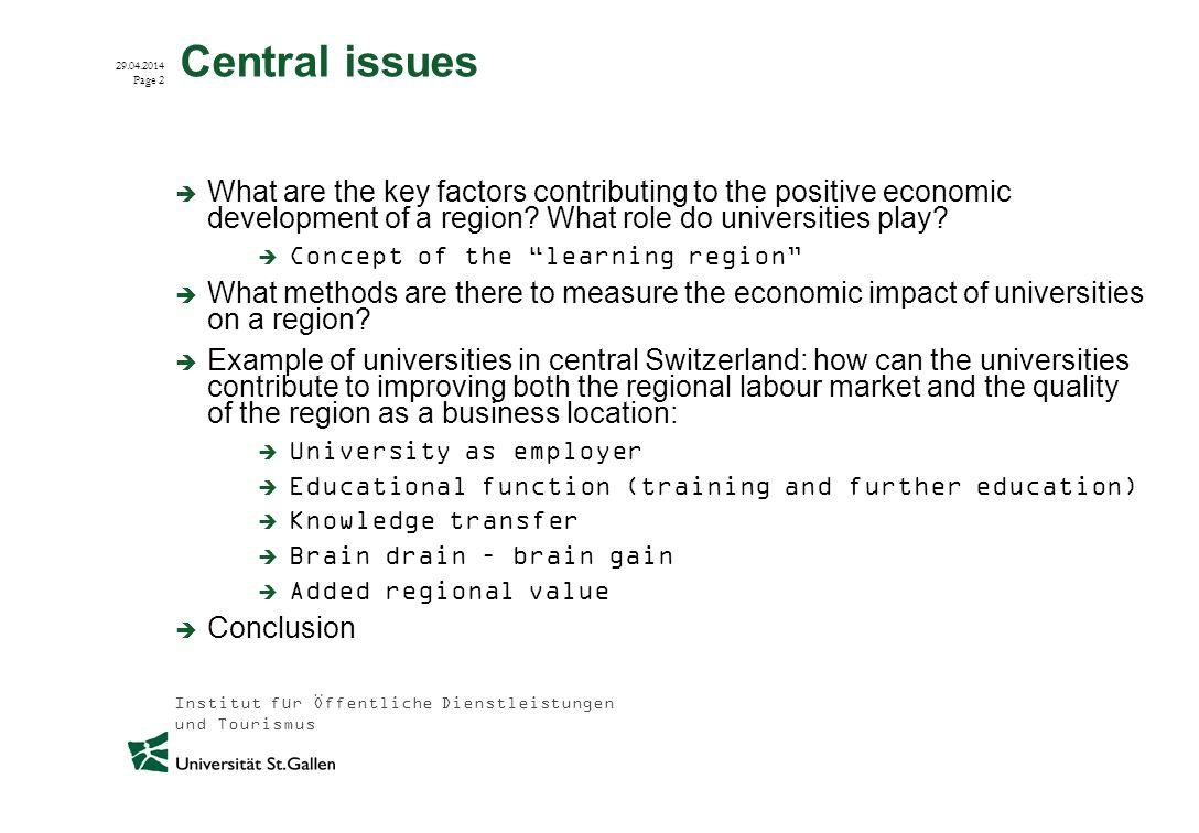 Institut für Öffentliche Dienstleistungen und Tourismus 29.04.2014 Page 3 Current research status – Methodological approaches