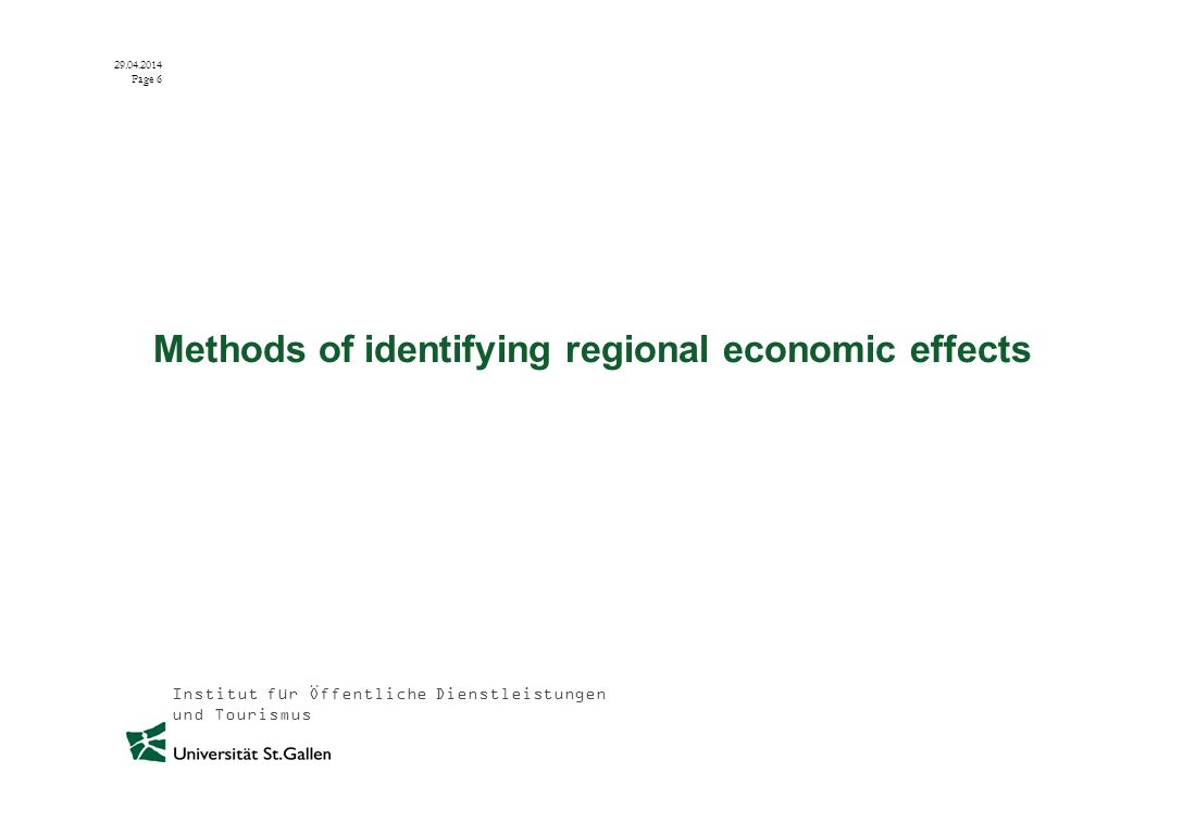 Institut für Öffentliche Dienstleistungen und Tourismus 29.04.2014 Page 27 Regional added value