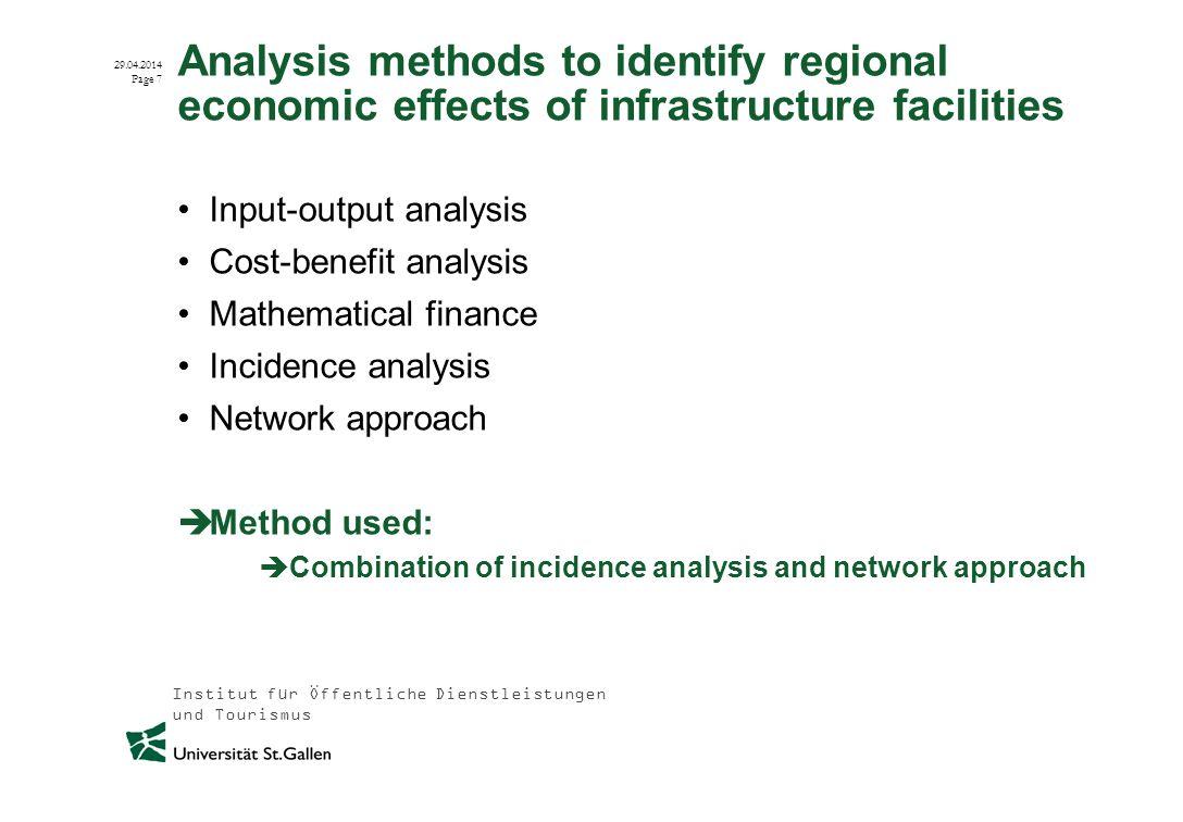 Institut für Öffentliche Dienstleistungen und Tourismus 29.04.2014 Page 8 Regional economic effects of infrastructure facilities (e.g.
