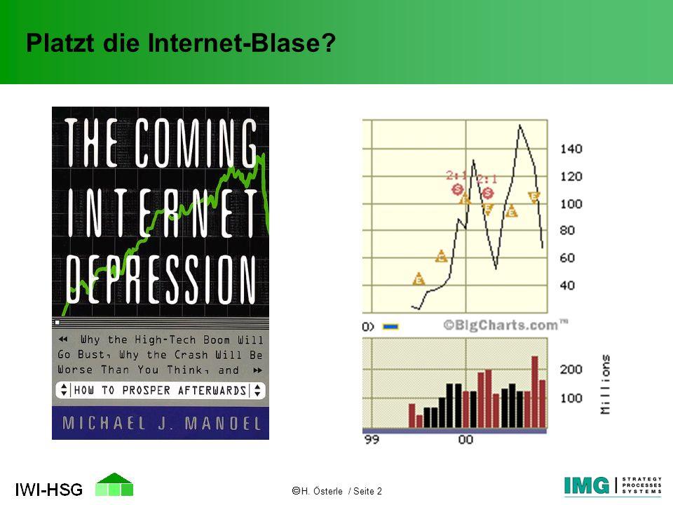 H. Österle / Seite 2 Platzt die Internet-Blase?
