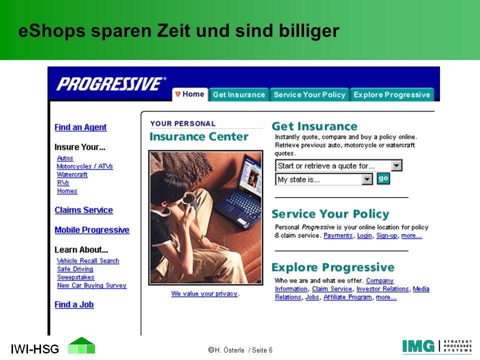 H.Österle / Seite 7 Versicherungsportale - Zukunft oder Hype.