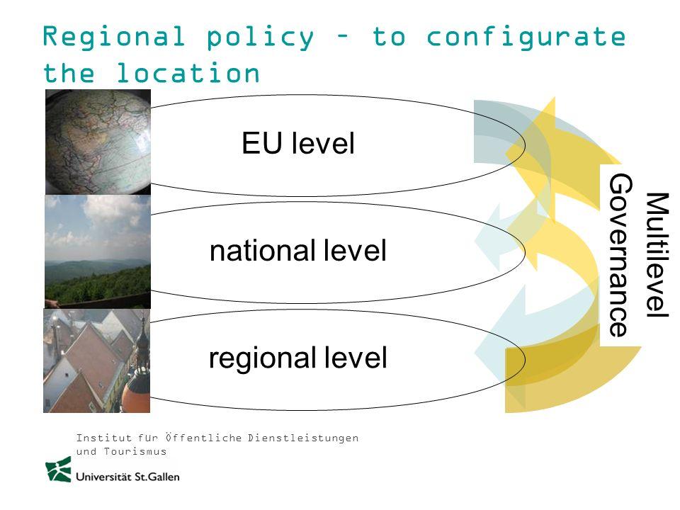 Institut für Öffentliche Dienstleistungen und Tourismus Regional policy – to configurate the location Multilevel Governance national level EU level re