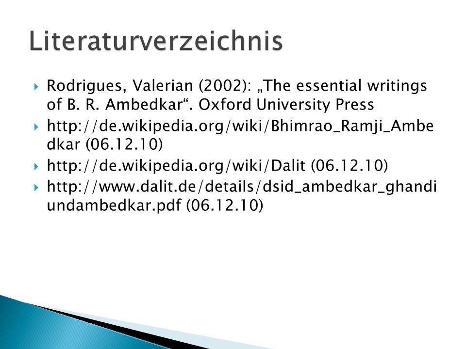 Rodrigues, Valerian (2002): The essential writings of B.