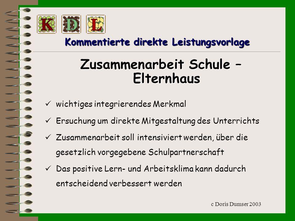 c Doris Dumser 2003 Die Sammelmappe enthält: -A-Arbeitsblätter -N-Niederschriften -V-Verfasste Texte -Z-Zeichnungen -W-Werkstücke -H-Hausübungen -P-Plakate -e-ect.