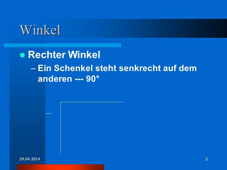 29.04.20141 Winkel-Dreiecke Elke Schnelle