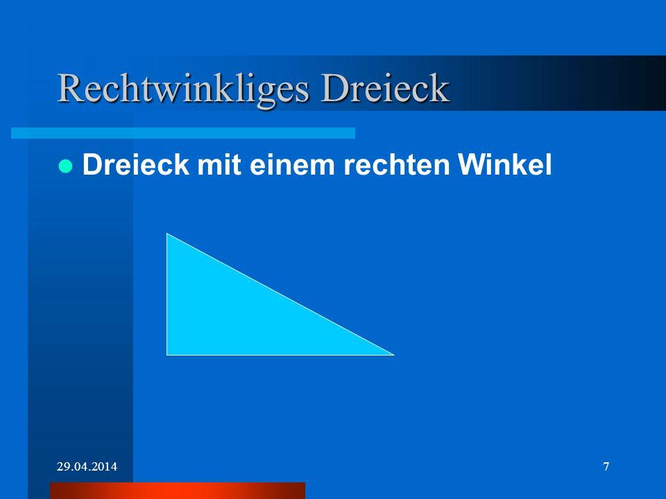 29.04.20146 Dreiecke Wir ordnen Dreiecke nach: Art der Winkel Seitenlänge