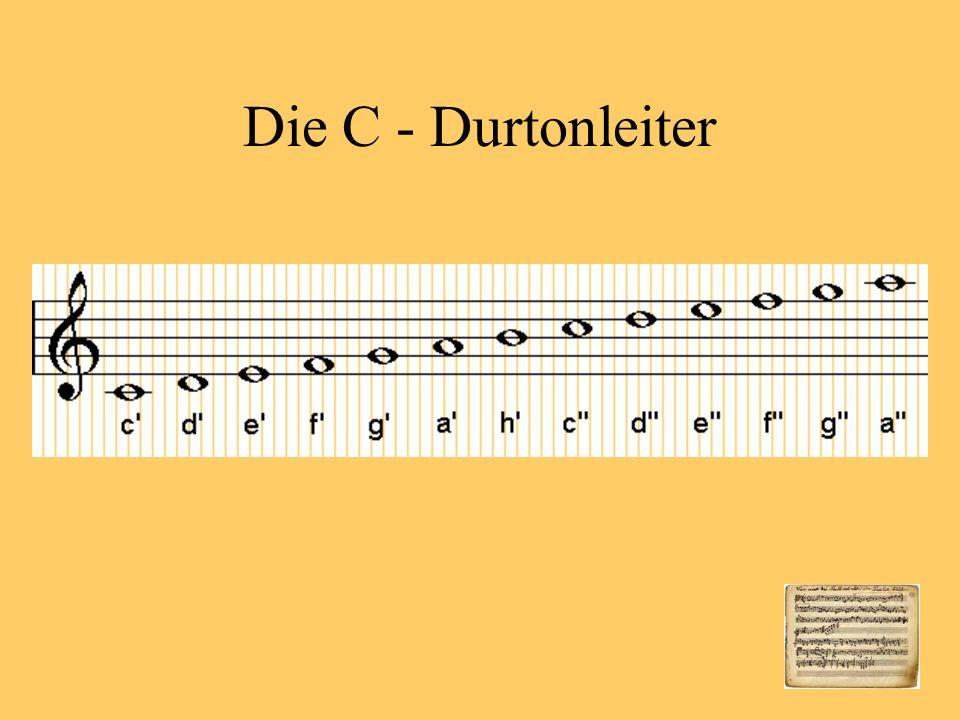 Die C - Durtonleiter