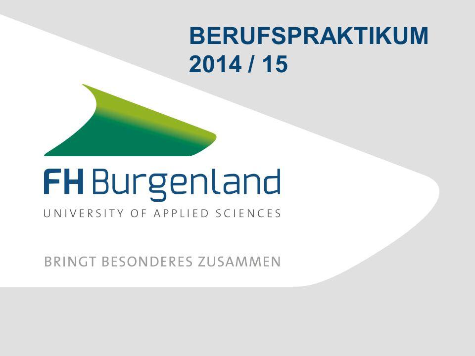 BERUFSPRAKTIKUM 2014 / 15
