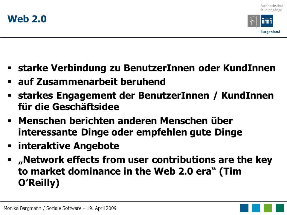 Monika Bargmann / Soziale Software – 19. April 2009 Wiki Beispiel 2: Wikia Green