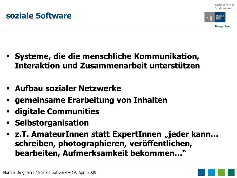 Monika Bargmann / Soziale Software – 19. April 2009 Online-Zusammenarbeit Online-Office