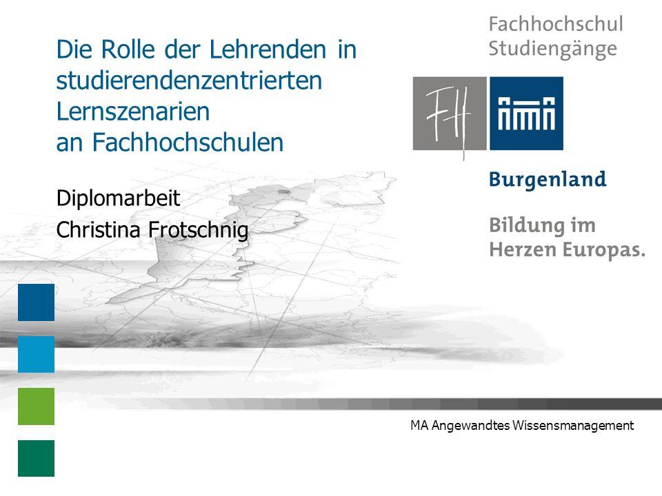 Präsentation der Diplomarbeit - Christina Frotschnig 12 Stand der Forschung Kompetenzen der Lehrenden Heinrich et al.