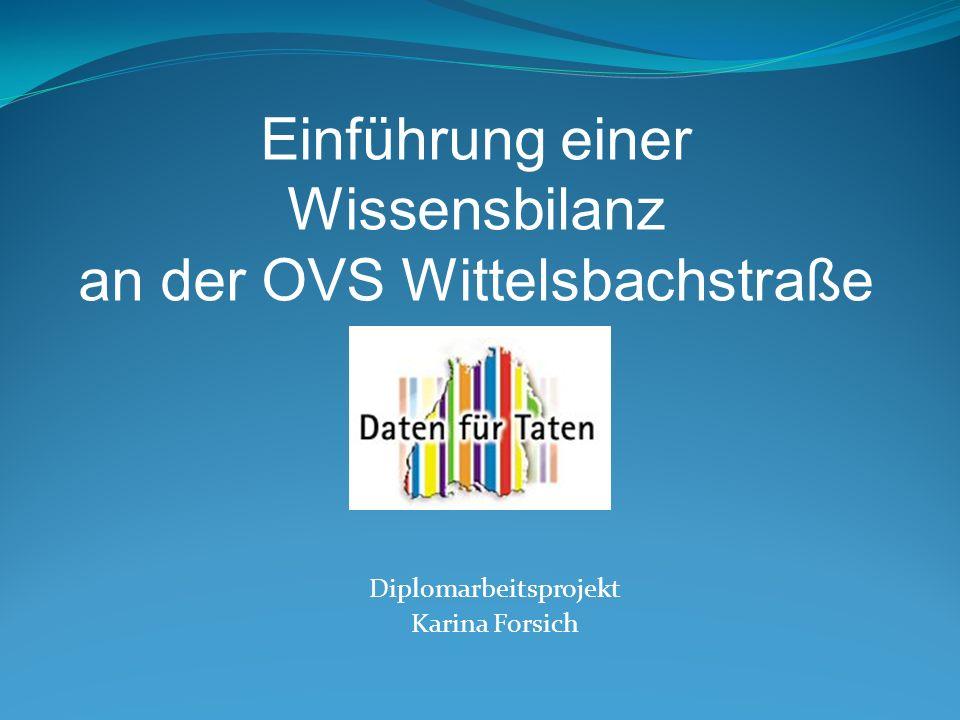 Diplomarbeitsprojekt Karina Forsich Einführung einer Wissensbilanz an der OVS Wittelsbachstraße
