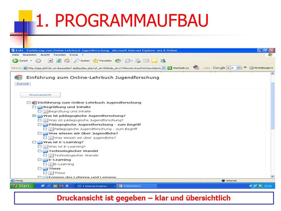open source persönlicher Schreibtisch Anzeige der belegten Lernmodule und Kurse (inkl.