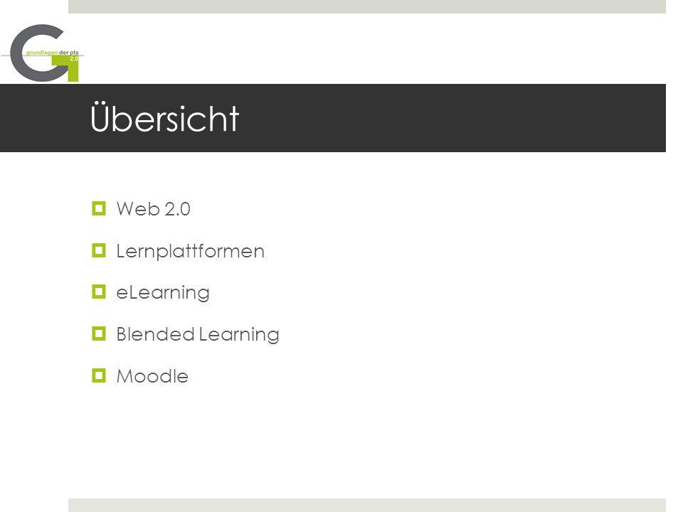 Übersicht Web 2.0 Lernplattformen eLearning Blended Learning Moodle