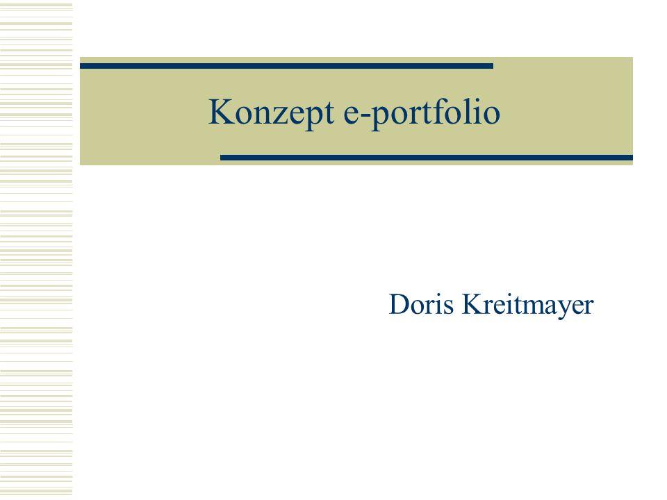Konzept e-portfolio Doris Kreitmayer
