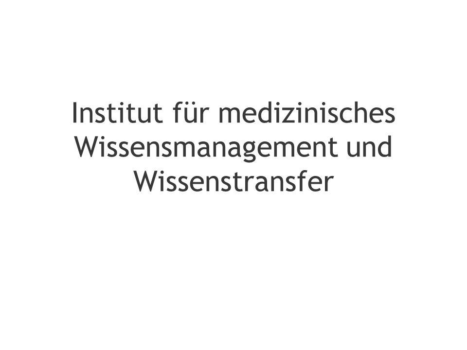 Institut für medizinisches Wissensmanagement und Wissenstransfer