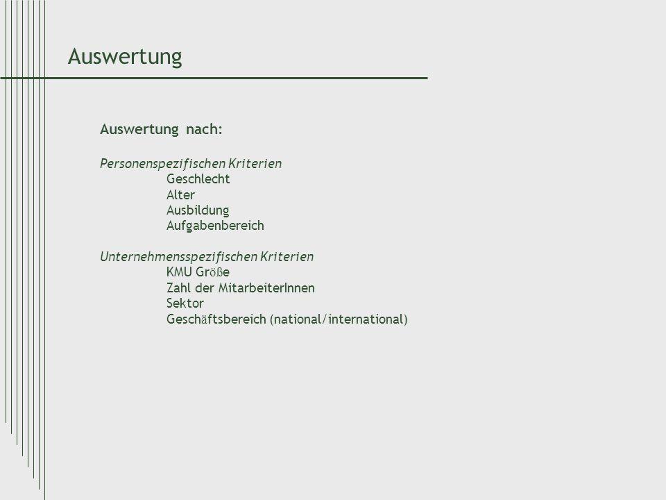 Statistische Verfahren Nicht-parametrischen Verfahren Korrelationskoeffizienten Spearman-Rangkorrelationskoeffizient Mediantests Mann Whitney U-Test (nicht parametrische Alternative zu t-Test) Kruskal Wallis Test (nicht parametrische Alternative zu ANOVA)