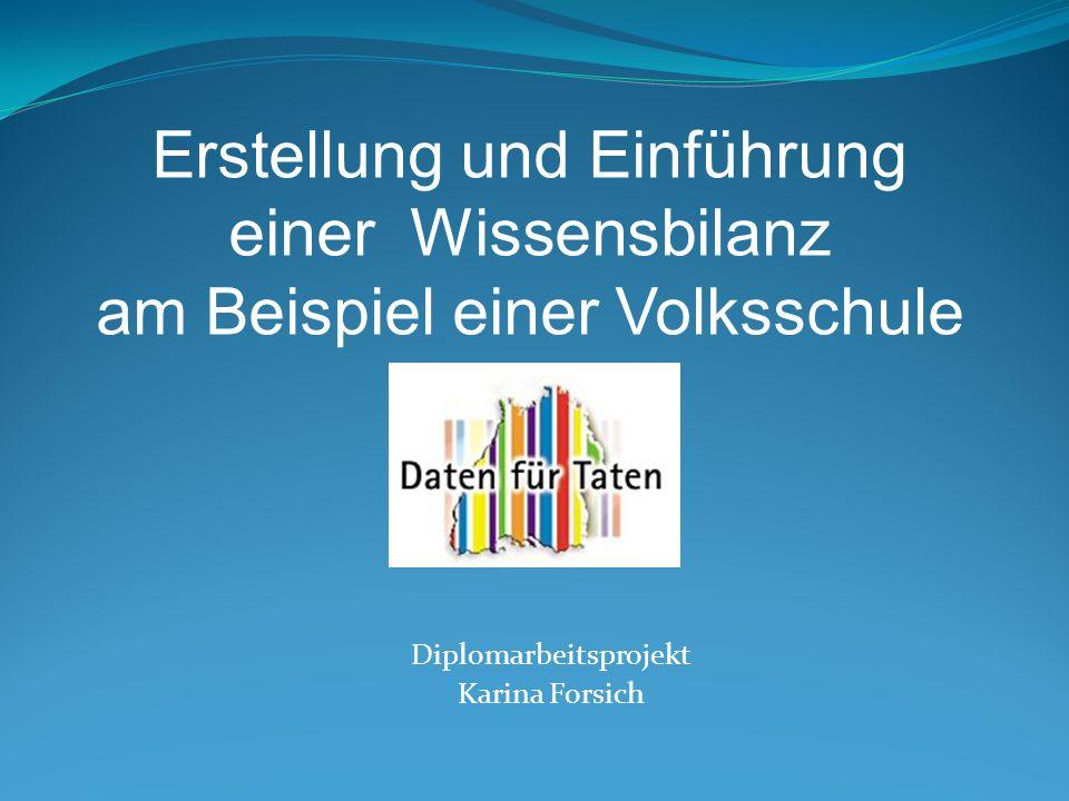 Diplomarbeitsprojekt Karina Forsich Erstellung und Einführung einer Wissensbilanz am Beispiel einer Volksschule
