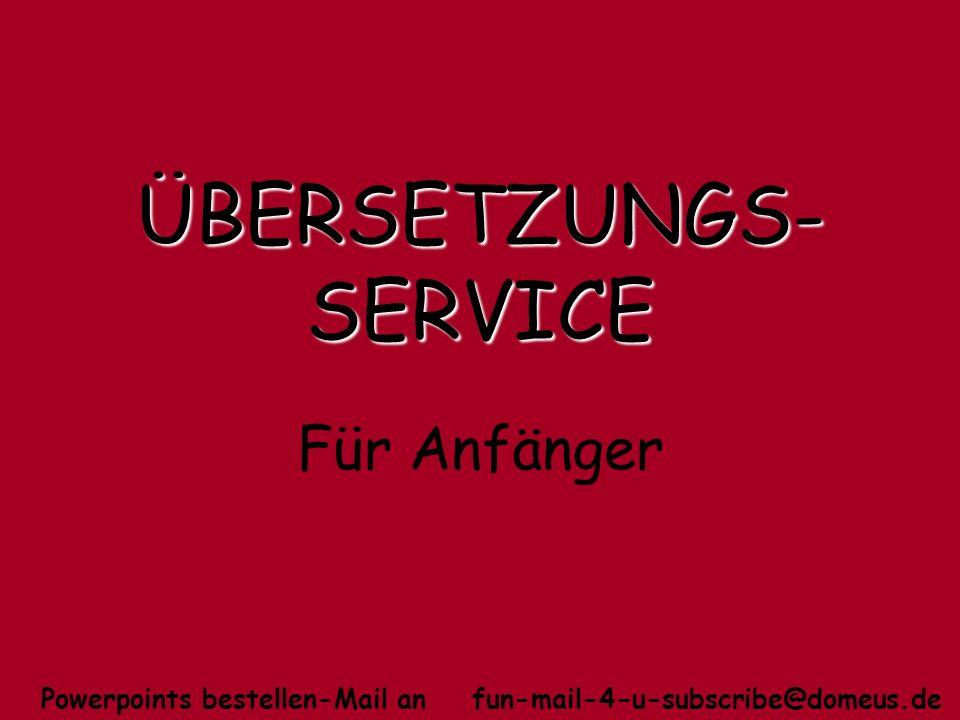 Powerpoints bestellen-Mail an fun-mail-4-u-subscribe@domeus.de ARABELLA Schöner Papagei (ital.)