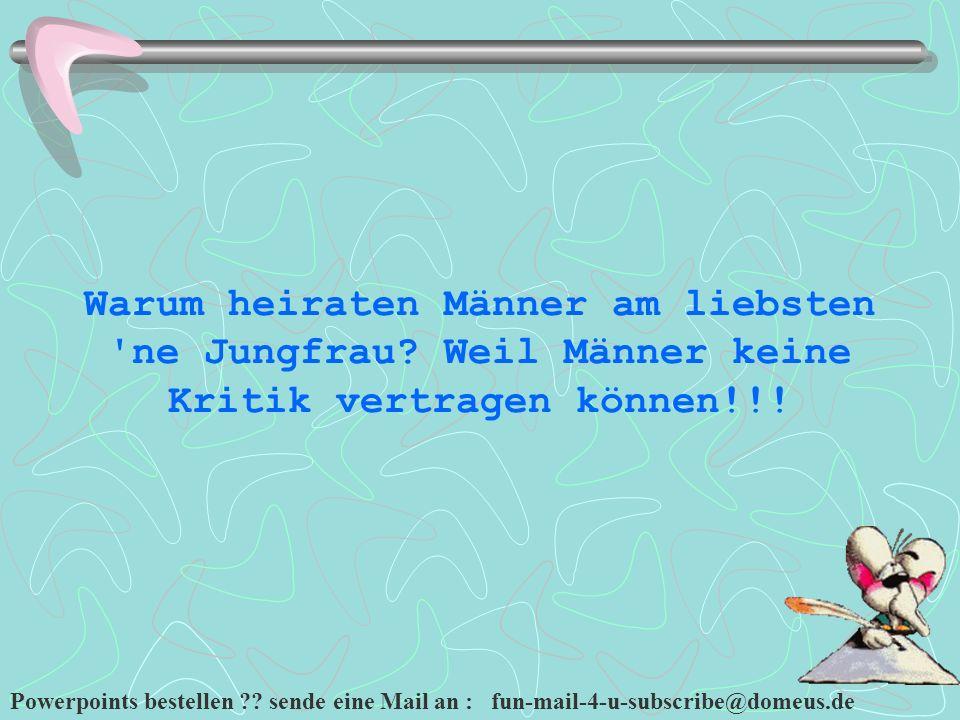 Powerpoints bestellen ?.sende eine Mail an : fun-mail-4-u-subscribe@domeus.de Zwei Frauen.