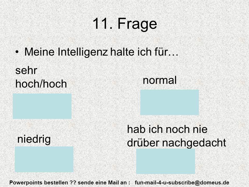 Powerpoints bestellen . sende eine Mail an : fun-mail-4-u-subscribe@domeus.de 11.