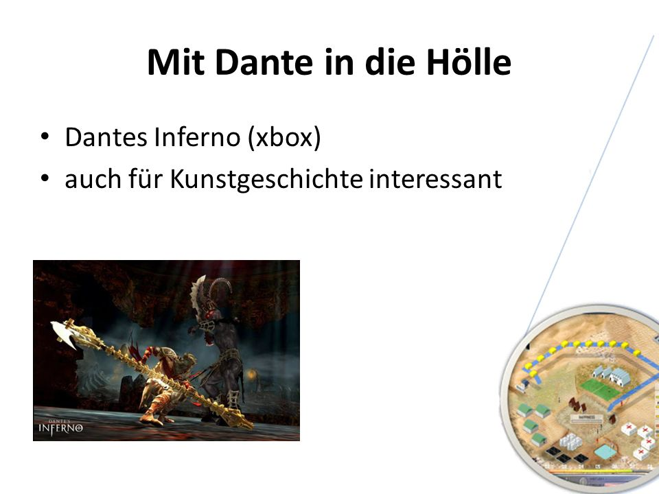 Mit Dante in die Hölle Dantes Inferno (xbox) auch für Kunstgeschichte interessant