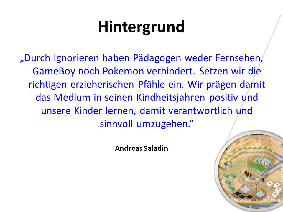 Hintergrund Durch Ignorieren haben Pädagogen weder Fernsehen, GameBoy noch Pokemon verhindert. Setzen wir die richtigen erzieherischen Pfähle ein. Wir