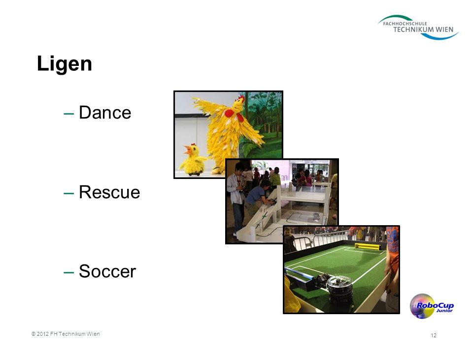 Ligen –Dance –Rescue –Soccer 12 © 2012 FH Technikum Wien
