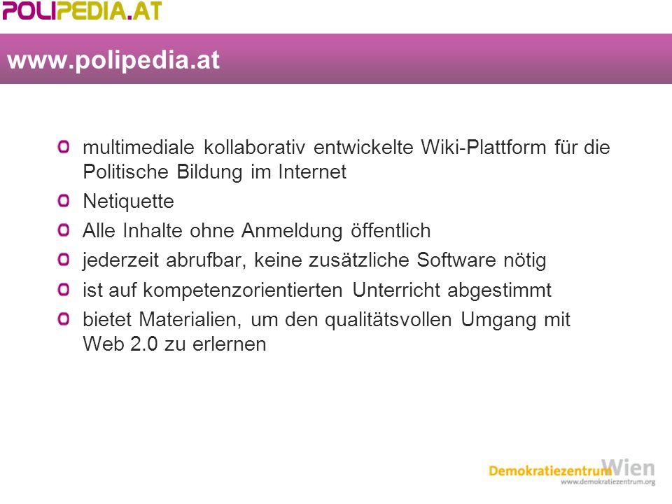 www.polipedia.atwww.polipedia.at im Unterricht ab der 8.