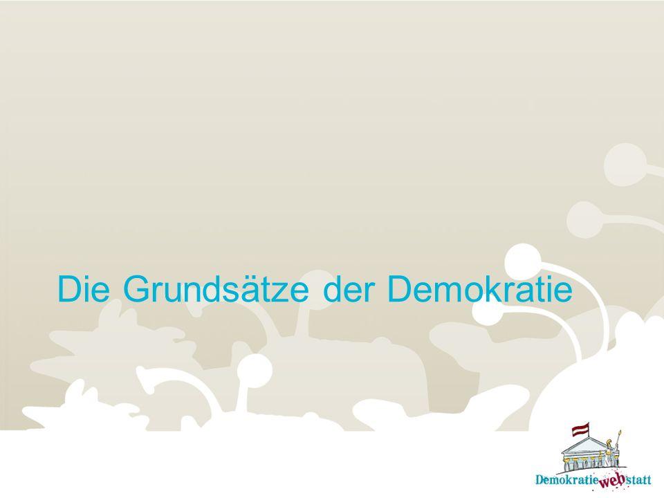 Übung: Grundsätze einer Demokratie In einer Demokratie haben alle die gleichen Freiheiten, Rechte und Pflichten.
