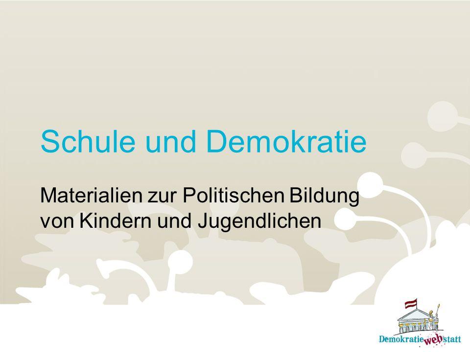 Schule und Demokratie Materialien zur Politischen Bildung von Kindern und Jugendlichen