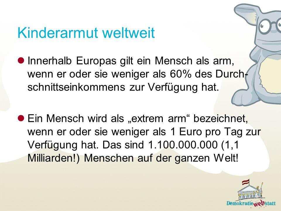 Warum gibt es in Österreich Kinderarmut.