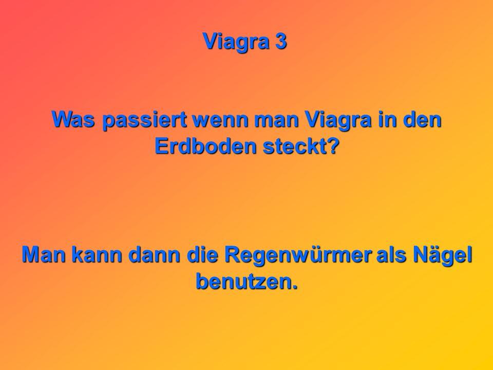 Viagra 3 Am Stammtisch: