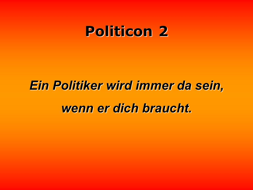 Politicon 2 Die Politiker verkaufen uns gebratenes Eis am Stil.